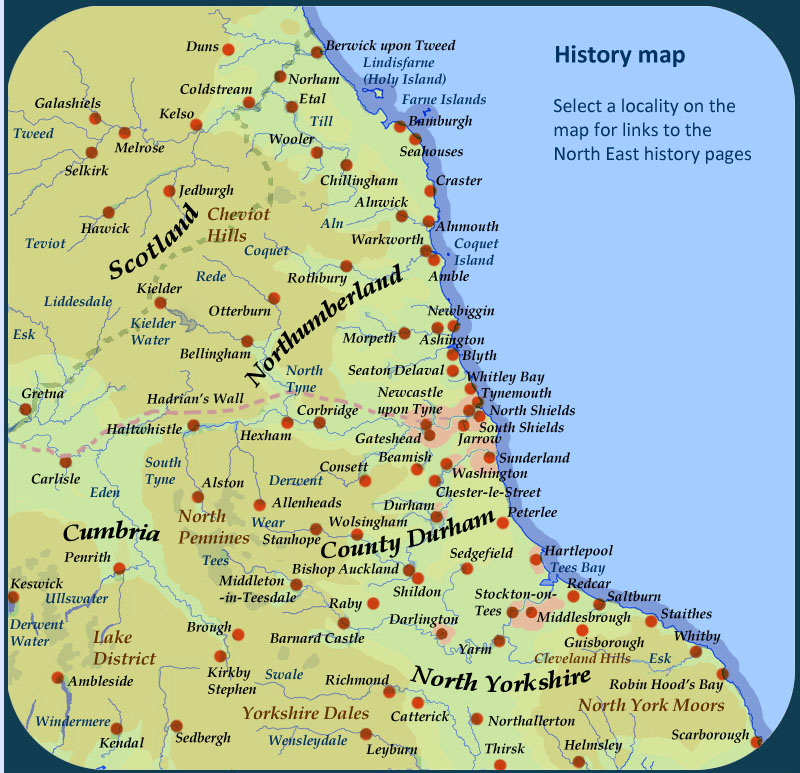 History of North East England Searchable map – Map Uk North